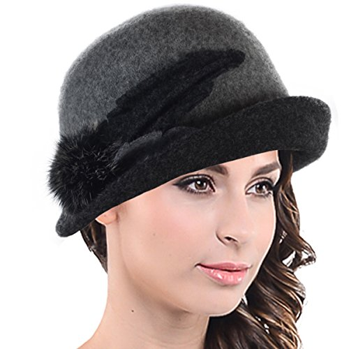Women Wool Cloche Turnup Bucket Bowler Beanie Dress Hat 09-c024 - Beanie 09