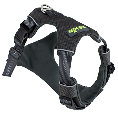 Tuff Mutt - Easy On/Easy Off Dog Harness, Medium & Large Breeds, Walk, Run & Hike with Confidence, Stay Safe with Bright Reflective Stitching, Two Secure Attachment Points