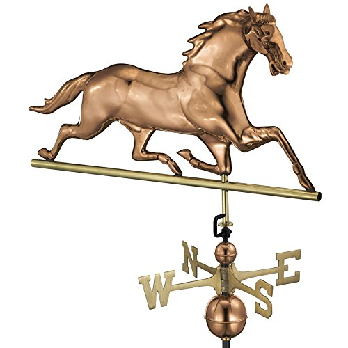 Good Directions Horse Weathervane, Pure Copper ()