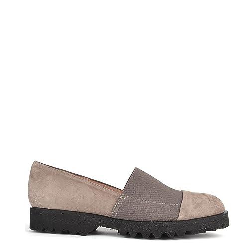 Elia B Zapatos Easy Track Taupe Mocasines de Ante Mujer: Amazon.es: Zapatos y complementos