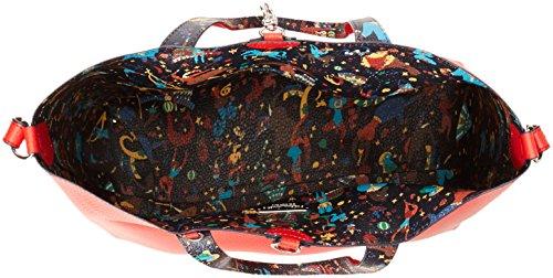 Piero Guidi Damen Handbag+Busta Shopper, 30.5x27x14 centimeters Rot (Rosso Papavero)
