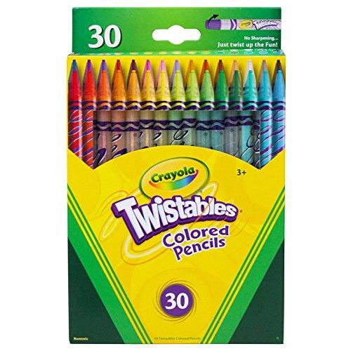Crayola BIN687409BN Twistables 30 Count Colored Pencils, MultiPk 2 Boxes