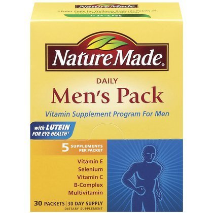 Nature Made Men's Pack Vitamin, 30-Count