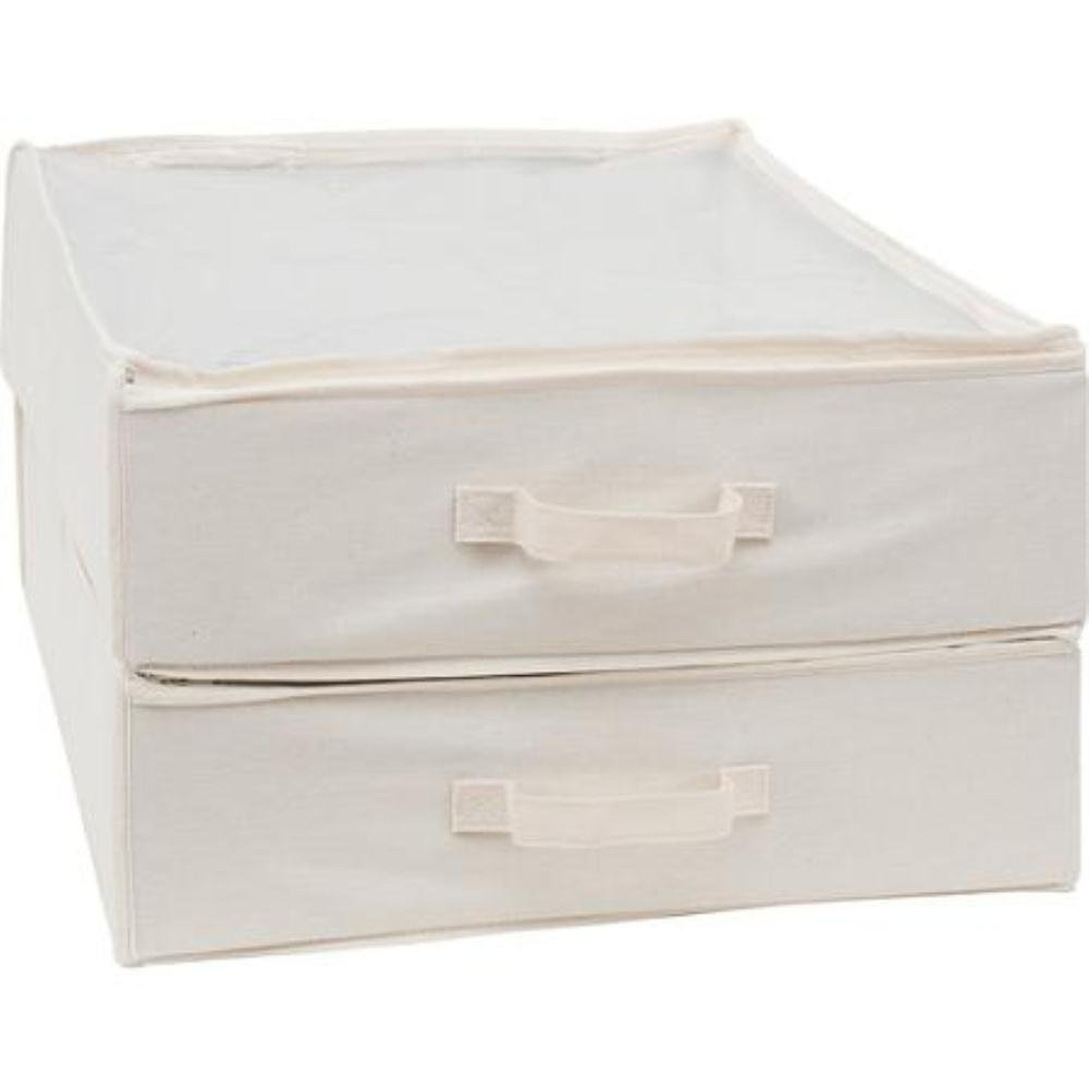 sc 1 st  Amazon.com & Amazon.com: Mainstays 2pk Canvas Underbed Bag: Home u0026 Kitchen