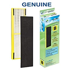 GermGuardian FLT4825 True HEPA GENUINE Replacement Filter B is a combination filter. It includes a True HEPA filter that captures 99.97% of allergens as small as .3 microns. It also contains a pre-filter/activated carbon filter that captures ...