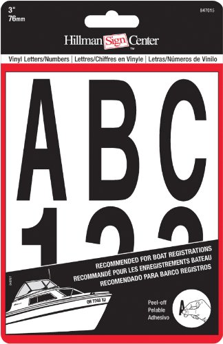 Reflective Inch Number 3 (The Hillman Group 847015 3-Inch Die-Cut Letters/Numbers Kit, Black)