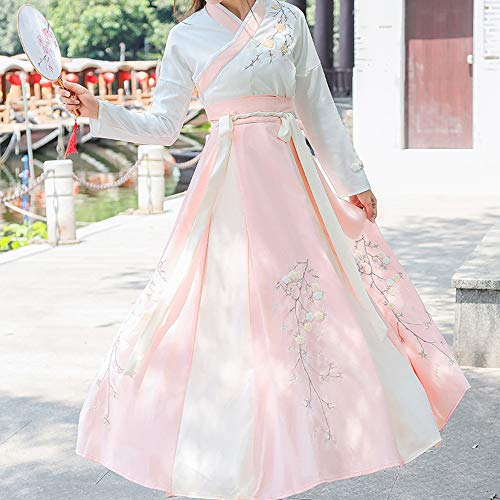 Chino Antiguo Hanfu Mujeres Tradicional Nacional Vestido Elegante Vintage Bordado Traje Tang Manga Larga Traje De Novia Chinopinkl