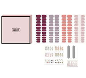 Dashing Diva Gloss Ultra Shine Gel Kit, Professional Salon Quality Nails with Easy At Home Application, Chip Resistant, Waterproof