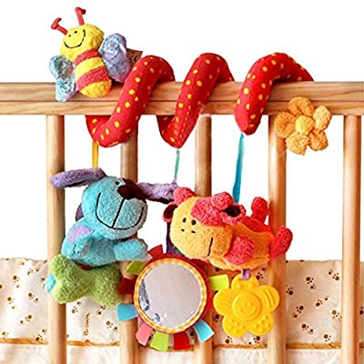 Animal Handbells Developmental Toy Bed Bells Kids Baby Soft Toys Rattle Lovely : Baby