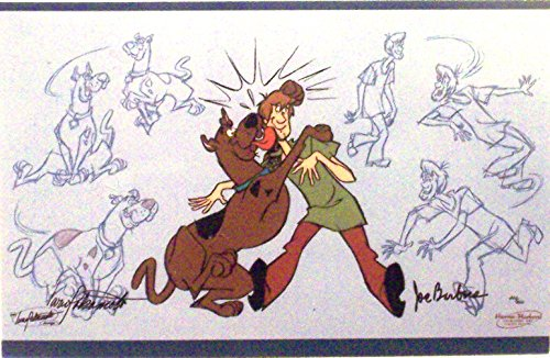 """Scooby-Doo and Shaggy in""""And Scooby-Doo Makes Two"""" Ltd Print Matted to 8"""" x 10"""" from Scooby-Doo"""