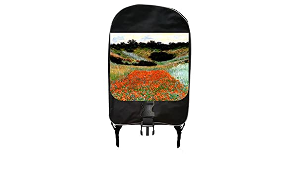 Monets Poppy Field in a Hollow Near Giverny Painting Print Design Backpack and Pencil Case Set