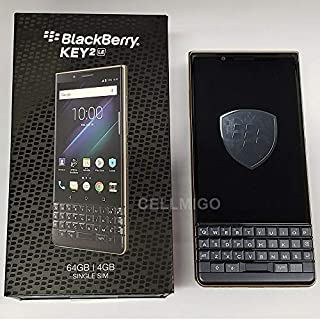 BlackBerry Key2 LE BBE100-2 64GB Unlocked GSM Phone w/Dual 13MP & 8MP Camera - Dark Blue/Champagne