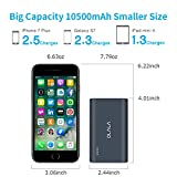 OLALA 10500mAh 2-Port Power Bank with Quick Charge 3.0 Aluminum Portable Charger for iPhone, iPad, Samsung Galaxy