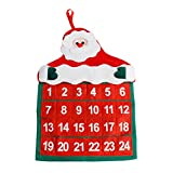 LiPing 16in Christmas Decorations Santa Claus Calendar Hotel Lobby Family Pendant Bathroom Accessories Decorations (A)