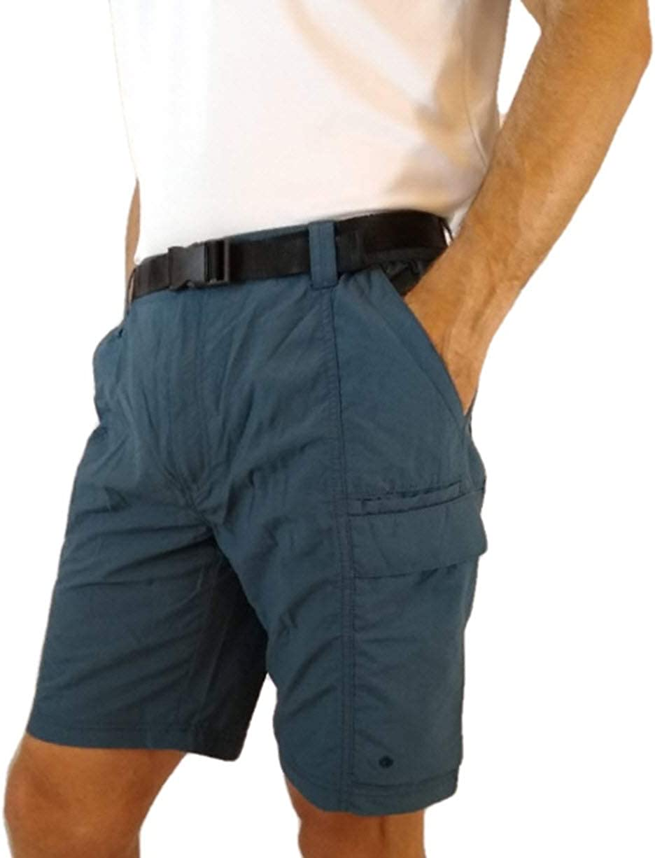 Coleman Men's Outdoor Hiking Nylon Cargo Shorts (Orion Blue, X-Large)