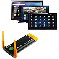 GBSELL Quad Core RK3188 Dual Antenna Bluetooth Android 4.4 Dongle Mini PC TV BK