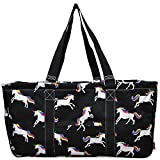 N. Gil All Purpose Open Top 23'' Classic Extra Large Utility Tote Bag 4 - 2017 Fall New Pattern (Unicorn Black)
