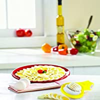 Yellow and White 53472 Casabella Hand Held Egg Slicer