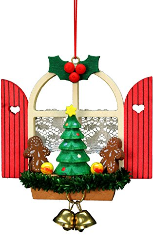 10-0569 - Christian Ulbricht Ornament - Window with Gingerbread - 3