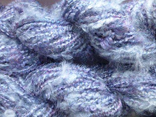 Plymouth Boucle Yarn - River Mist Fuzzy Purple Blue Boucle Wool Acrylic Sports Art Yarn
