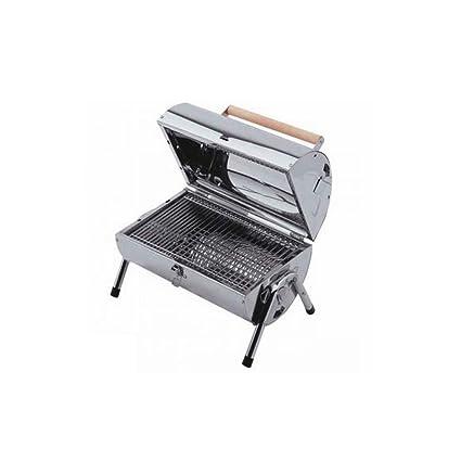 Lifestyle Atractivo acero inoxidable barbacoa de carbón con un buen tamaño zona de cocción & Cromado