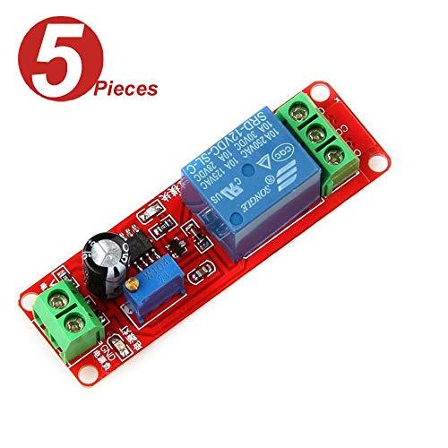 (WINGONEER® 5Pcs NE555 12V DC Adjustable 0-10 Second Timer Delay Relay Switch Module Shield for Arduino Raspberry Pi)