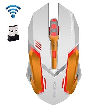 UrChoiceLtd® 2017 NAFFEE Star 2,4 gHz inalámbrico 6d 2400 dpi Batería Silencioso 6 Botones Usb óptico Ratón Para Juegos Para Ordenador Portátil Notebook ...