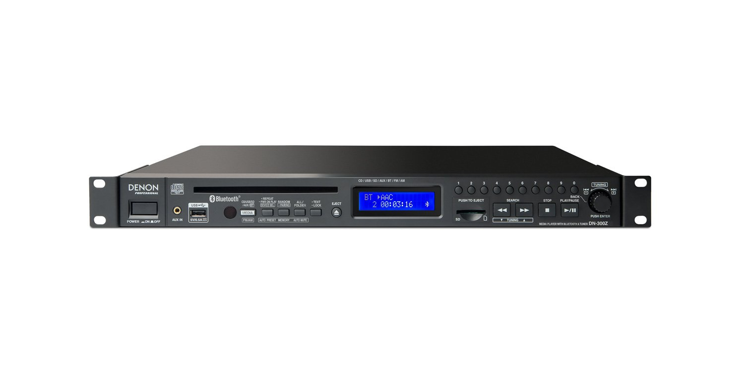 Denon DN-300Z CD/Media Player with Bluetooth Receiver and AM/FM Tuner