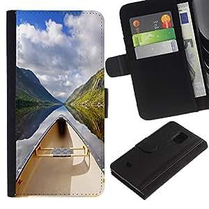 All Phone Most Case / Oferta Especial Cáscara Funda de cuero Monedero Cubierta de proteccion Caso / Wallet Case for Samsung Galaxy S5 Mini, SM-G800 // Nature Beautiful Forrest Green 130