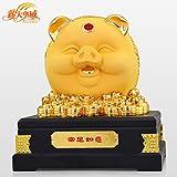 Golden pig coin piggy bank creative home cute golden piggy bank -A 32x32x36cm(13x13x14inch)