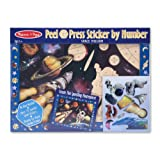 Melissa & Doug Peel And Press Sticker By Number - Space Mission