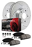 Power Stop K6513 Front and Rear Z23 Evolution Brake Kit with Drilled/Slotted Rotors and Ceramic Brake Pad, 1 Pack