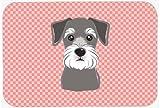 Caroline's Treasures Checkerboard Pink Schnauzer Mouse Pad/Hot Pad/Trivet (BB1206MP)