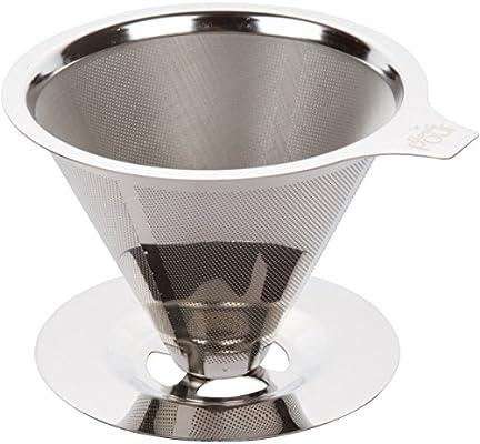 Sin pour over - Cafetera de émbolo acero inoxidable reutilizable ...