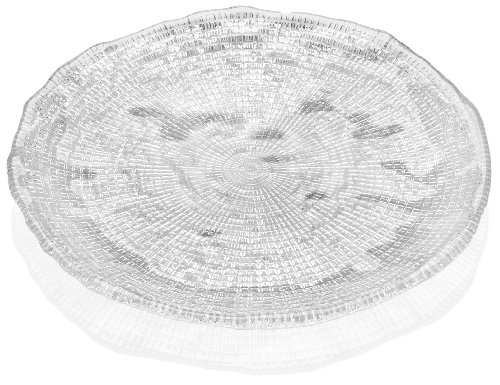 Tuscany Service Plate Glass - IVV Glassware Diamante Salad Dessert Plate, 8-1/2-Inch, Clear