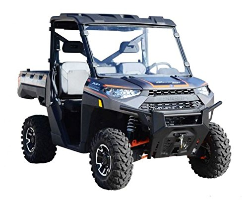 SuperATV Heavy Duty Scratch Resistant Full Windshield for Polaris Ranger Full Size XP 900/900 Crew (2013+) - Installs in 5 Minutes!