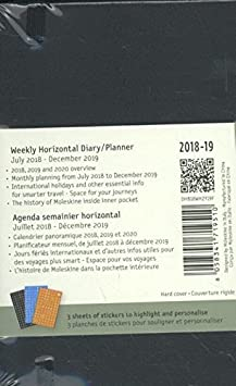 Moleskine Classic 18 Month 2018-2019 Weekly Planner, Hard Cover, Pocket (3.5