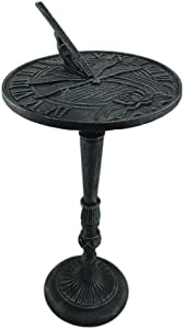 Verdigris Finished Cast Iron Dragonfly Sundial with Pedestal