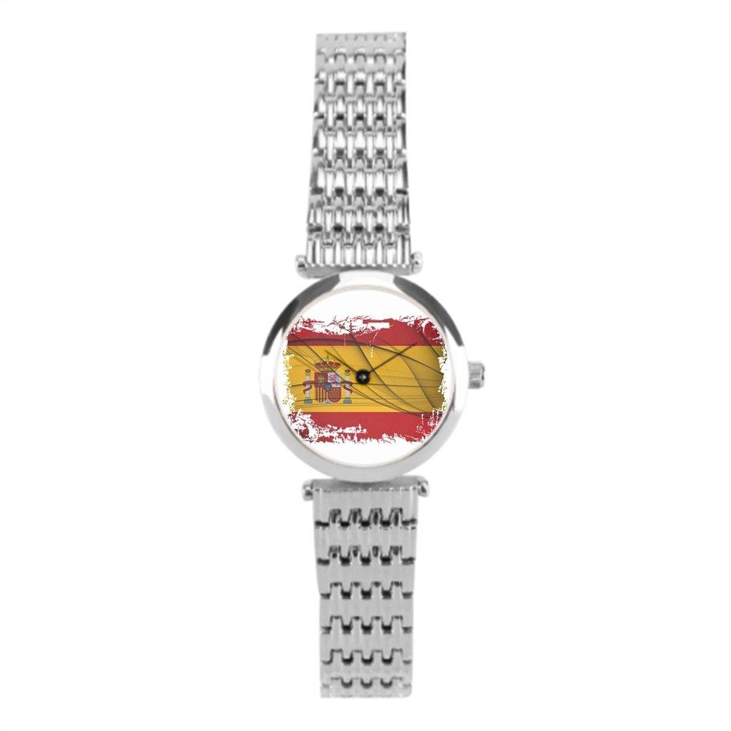 winlighting Vintage de bandera de país de la mujer relojes de pulsera. Plata: Amazon.es: Relojes
