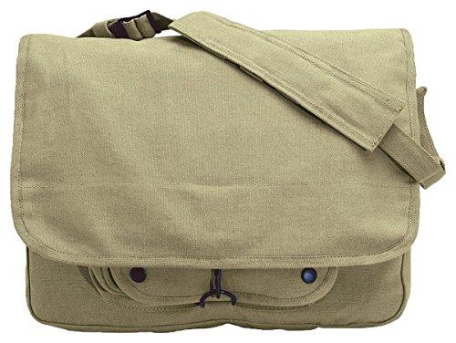 Caqui Vintage Paracaidista Militar bolsa de hombro