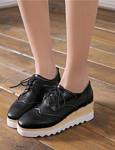 Chaussures Fermé Noir Bureau Eu36 Blanc Arrondi Marron Travail Bout Talon amp; Cn36 Njx Uk4 Compensé Décontracté 2016 Brown Femme Habillé us6 Zxw4v5t8
