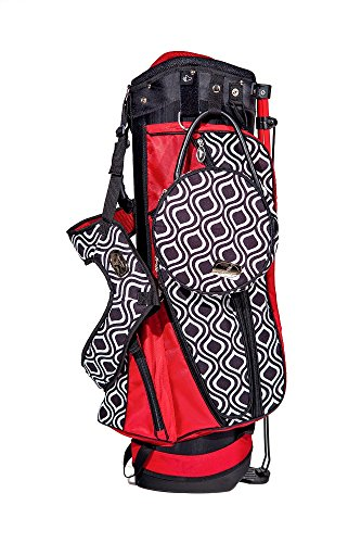 Sassy Caddy Women's New Orleans Jazzy Stand Bag, Black/Red/White