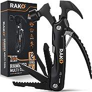 RAK Hammer Multi-Tool - Multi-Functional 12 in 1 Mini Hammer Camping Gear Survival Tool for Men, DIY Handyman,