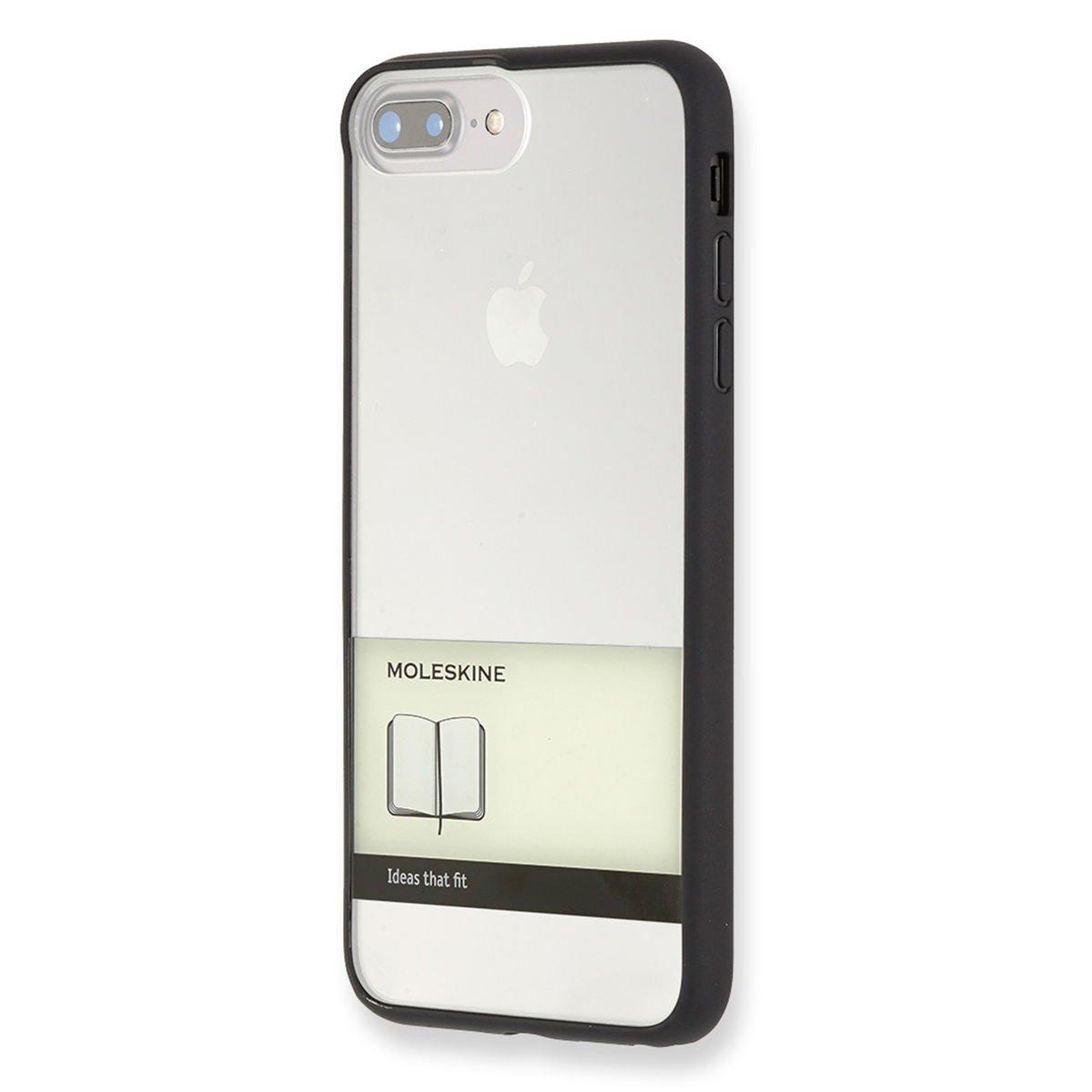 Moleskine Hartschalenetui (Durchsichtige Papierbanderole) geeignet für Iphone 7Plus, schwarz
