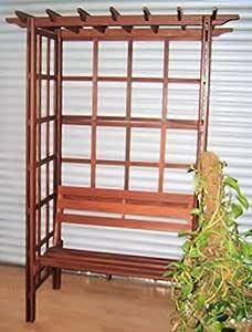 Muebles de Jardín Jardín Cenador Cenador Banco de jardín Asiento banco de madera madera Cenador Pérgola Rose arco de madera dura: Amazon.es: Jardín