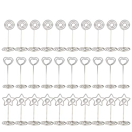 PAMASE 30 Packs Table Place Card Number Holders, 3.3