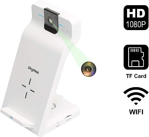 Amazon.com: SKYMEE - Cámara WiFi con cargador inalámbrico de ...