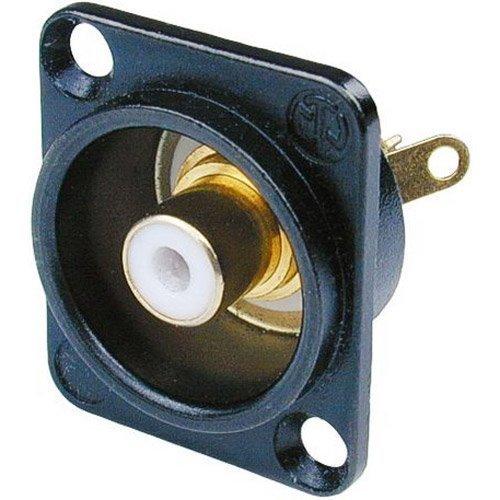 Connectors Rca Neutrik - Neutrik NF2D-B-9 RCA Jack D-Series White/Black