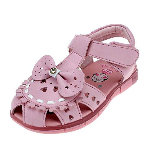 - Brucest The Fashion PU Dress Mary Jane Girl's Bow Ballerina Flat Pink11.5 M US Little Kid