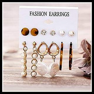 XEDUO Alloy Earrings, Fashion Bohemian Pearl Acrylic Acetate Board Shell Earrings Women's Jewelry Gift